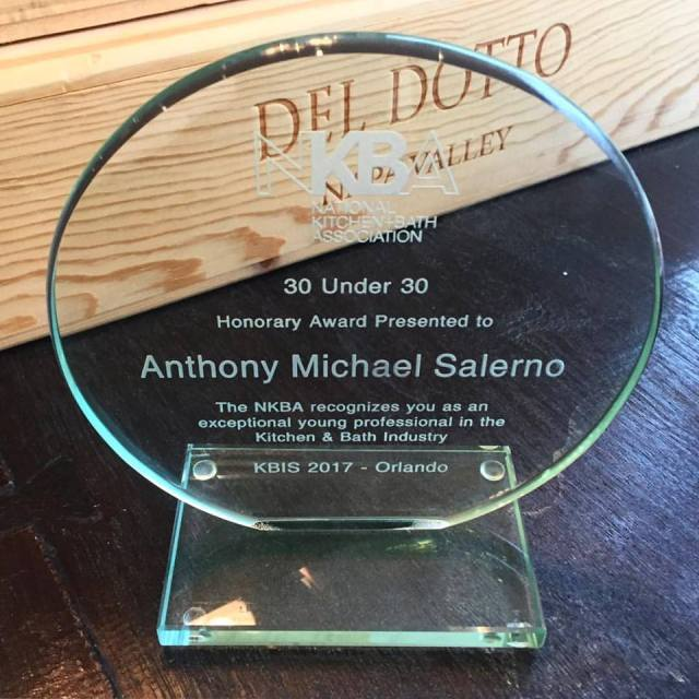 Anthony Salerno's 2017 NKBA 30 Under 30 Award, KBIS 2017.