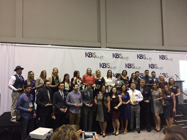The NKBA 30 Under 30 recipients together at the KBIS NeXT Stage, KBIS 2017.