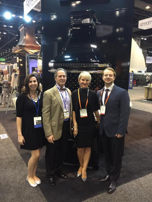 Peter Salerno and Gabrielle Mayer with David Podwyszynski & Ramona Panus of Rangecraft at KBIS 2017.