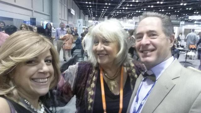 Peter Salerno with Maria Stapperfenne former 2015 president of the NKBA & Rhonda Knoche owner of Rhonda Knoche Designs in Portland, Oregon.