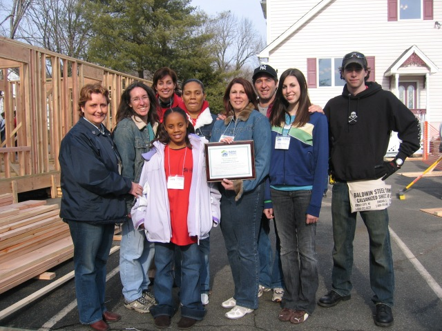 Peter Salerno Inc., family and the community at the Habitat for Humanity Hurricane Katrina project, 2006.