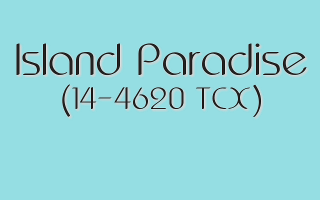 Pantone Spring 2017 color trends: Island Paradise is a cool, refreshing aqua.
