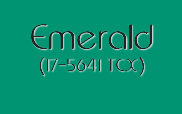 Emerald is a Pantone jewel tone green great for St. Patrick's Day 2017 design.