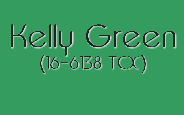 "Kelly Green might be the most quintessentially ""Irish"" shade of green."