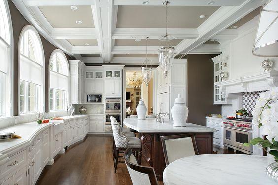 Peter Salerno Inc. 2017 new white kitchen design - stunning and trendy.