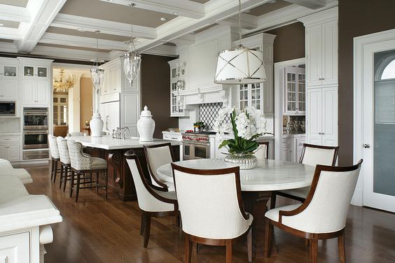 Peter Salerno Inc. new white kitchen design - stunning and trendy.