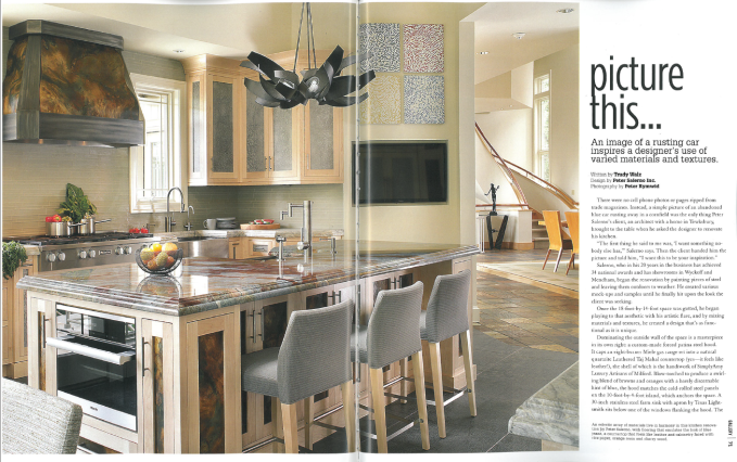 A look at the latest kitchen design feature in Gallery New Jersey Luxury Homes and Estates.