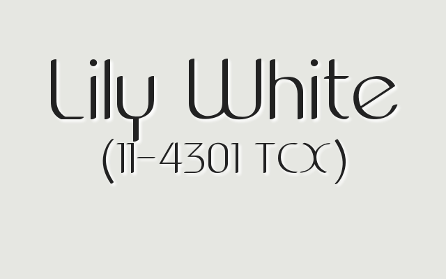 Pantone Lily White. 2017 Mother's Day Colors.