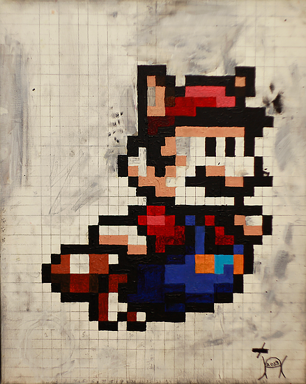 Raccoon Super Mario: original artwork from Jason Cordero.