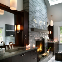 Impressive Interior Design's Modern Fireplace Tile Ideas