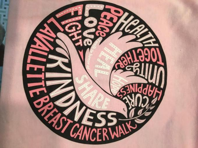 The 2017 Lavallette Breast Cancer Walk logo.
