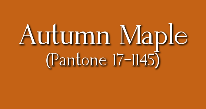 Autumn Maple is a warmer, heartier brown neutral with a reddish tint.