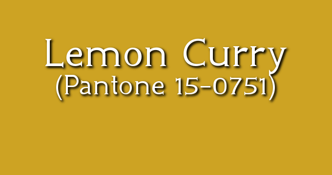 Pantone Lemon Curry: Fall 2017 London
