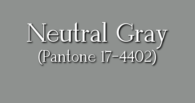 Neutral Gray is an exceptionally versatile neutral in the Pantone Fall 2017 collection.