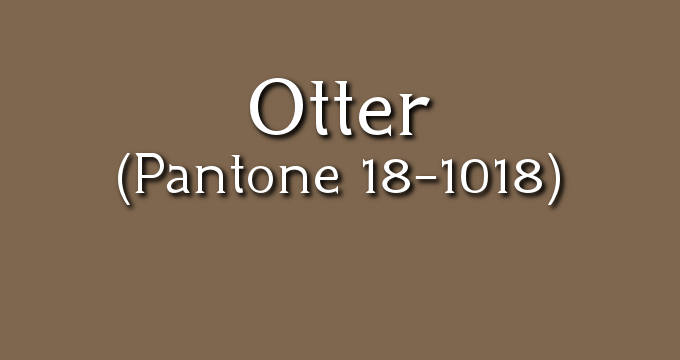 Pantone Otter: Fall 2017 London