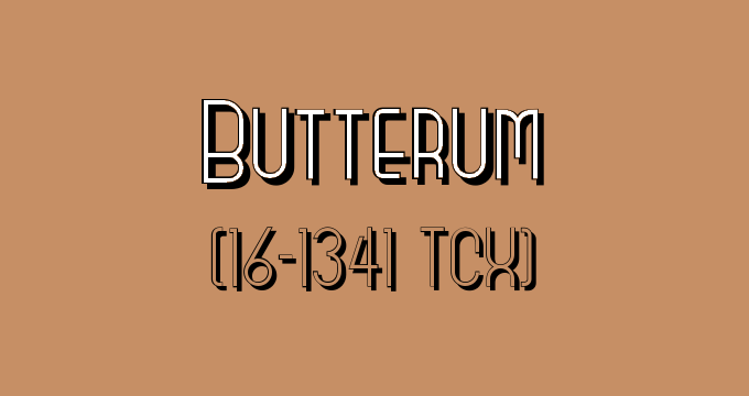 Pair Butterum (Pantone 16-1341) with any light pink!