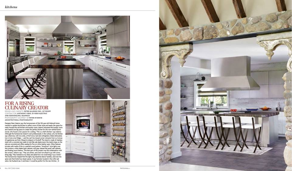 Peter Salerno Inc. Kitchen Design, In The Home Issue Of 201 Magazine, Fall