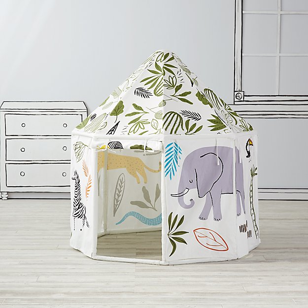 Land of Nod's Jungle Pavilion Playhouse. (Credit: Land of Nod.)