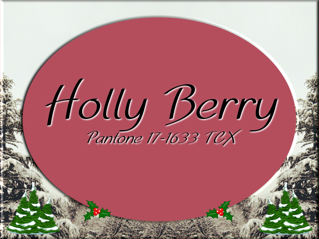 Christmas 2017 color design: Pantone Holly Berry