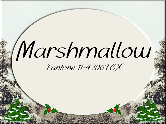 Christmas 2017 color design: Pantone Marshmallow