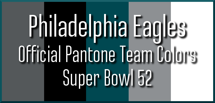 Super Bowl 52 official team colors Philadelphia Eagles