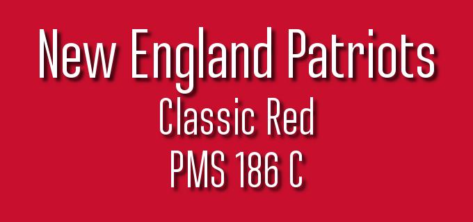 Super Bowl 52 Design: New England Patriots Official Pantone