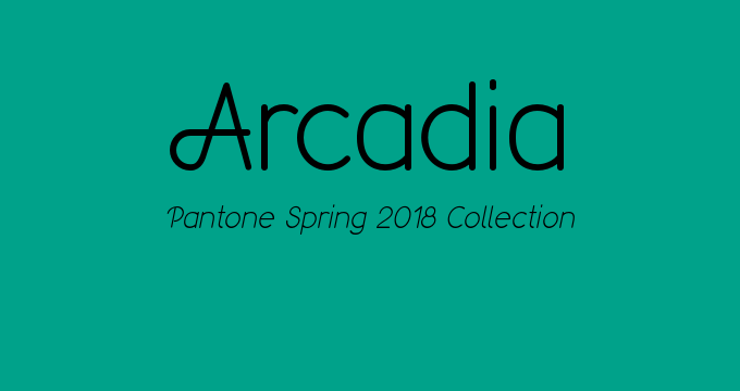Pantone Spring 2018 collection Arcadia