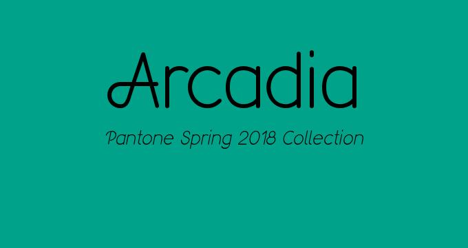 Pantone Spring 2018 collection Arcadia