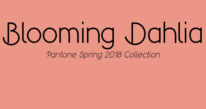 Pantone Spring 2018 color Blooming Dahlia