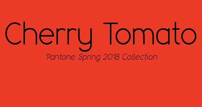 Pantone Spring 2018 color Cherry Tomato
