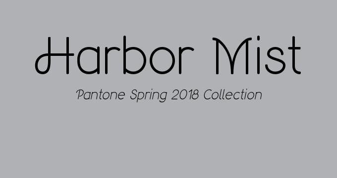 Harbor Mist Pantone Spring 2018 classic colors