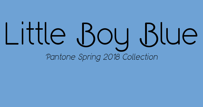 Pantone Spring 2018 collection Little Boy Blue