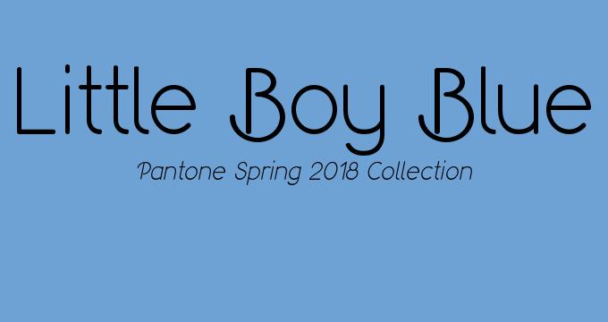 Pantone Spring 2018 collection Little Boy Blue