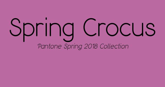 Pantone Spring 2018 color Spring Crocus