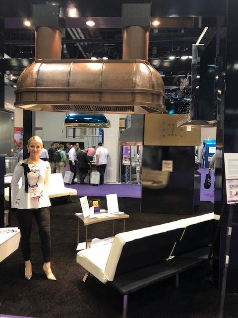The stunning Submarine range hood from RangeCraft, at KBIS 2018.
