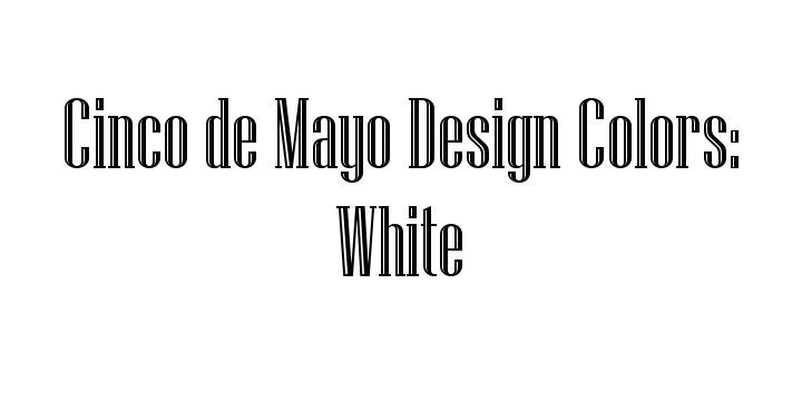 Cinco de Mayo Official Pantone White
