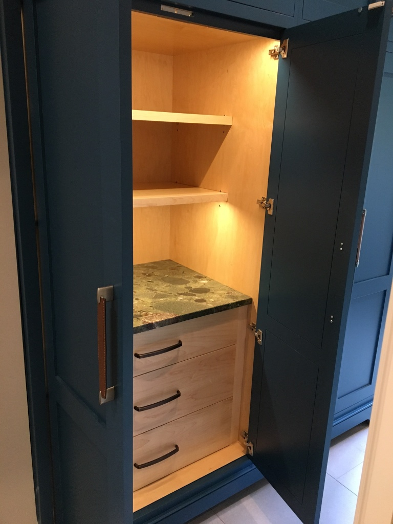 Butler's pantry and cabinetry design from Peter Salerno Inc., 2018.