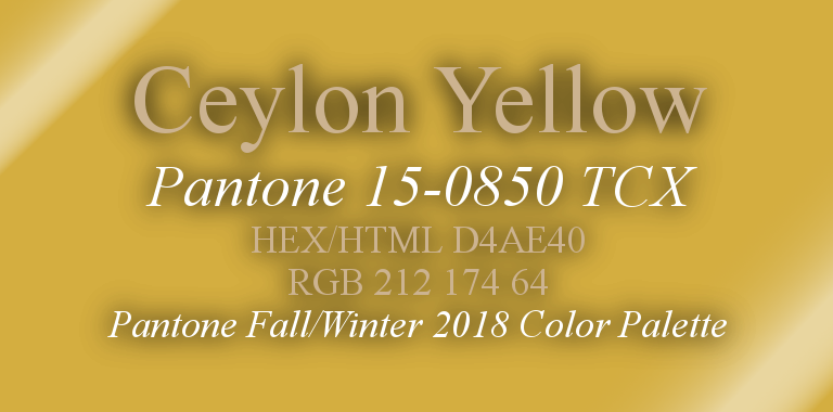 Ceylon Yellow Pantone Fall/Winter 2018