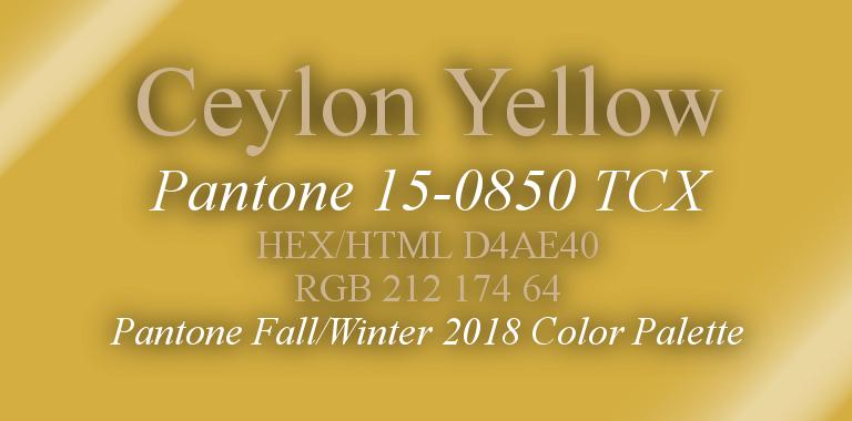 Ceylon Yellow Pantone Fall/Winter 2018