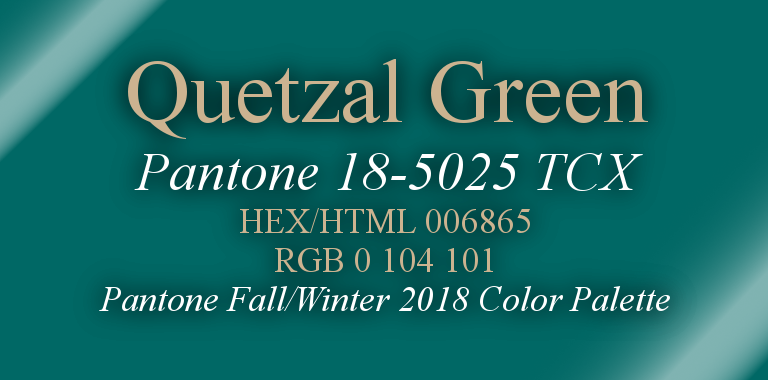 Quetzal Green Pantone Fall/Winter 2018