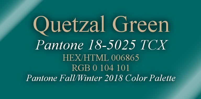 Quetzal Green Pantone Fall/Winter 2018