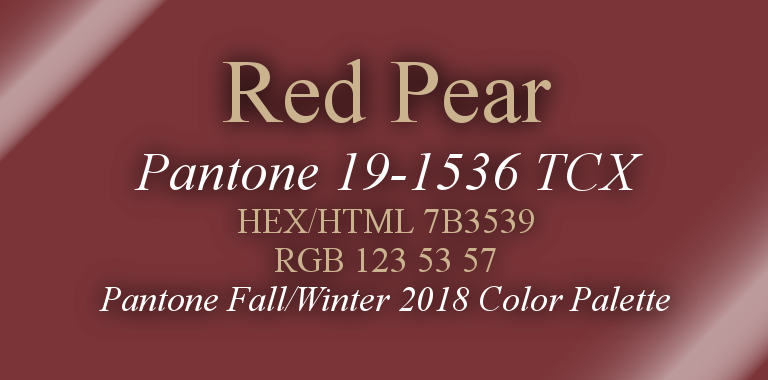 Red Pear Pantone Fall/Winter 2018