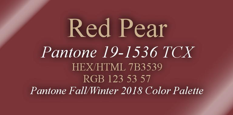 Red Pear Pantone Fall/Winter 2018