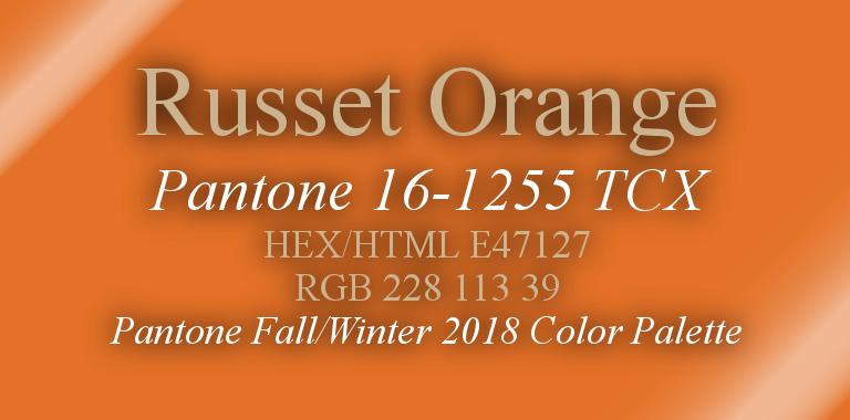 Russet Orange Pantone Fall/Winter 2018