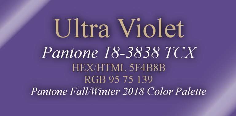 Ultra Violet Pantone Fall/Winter 2018