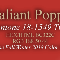 Pantone Fall/Winter 2018 Top 10 Color Palette: A Home Design Perspective