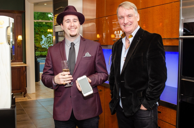 Anthony M. Salerno (l.) and Scott Broadfoot (r.), Exclusive photo from Broadfoot and Broadfoot exhibit at Peter Salerno Inc., 2018