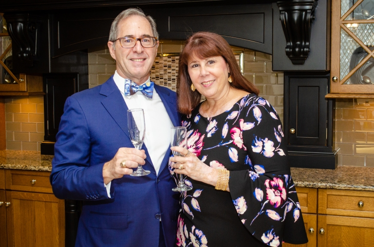 Peter Salerno and Tracy Salerno, Exclusive photo from Broadfoot and Broadfoot exhibit at Peter Salerno Inc., 2018
