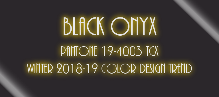 Black Onyx Pantone 19-4003