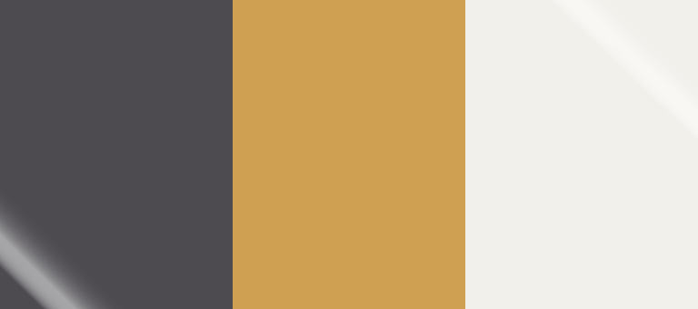 Pantone Winter 2018-19 Color Palette: Blackened Pearl, Bright Gold, Snow White
